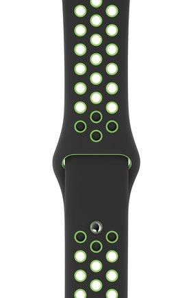 Мужской ремешок для apple watch 44mm nike sport band (regular) APPLE черного цвета, арт. MXR02ZM/A | Фото 2