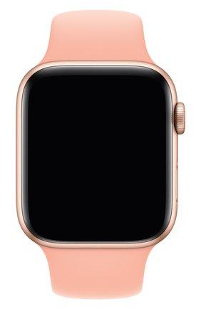Мужской ремешок для apple watch 44mm sport band (regular) APPLE светло-розового цвета, арт. MXNY2ZM/A | Фото 1
