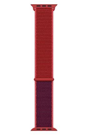 Мужской ремешок для apple watch 44mm sport loop APPLE красного цвета, арт. MXHW2ZM/A | Фото 2