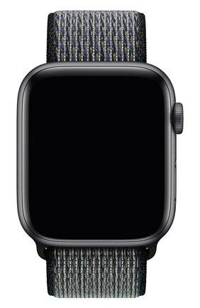 Мужской ремешок для apple watch 44mm nike sport loop APPLE черного цвета, арт. MXN52ZM/A | Фото 1