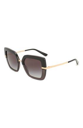 Мужские солнцезащитные очки DOLCE & GABBANA черного цвета, арт. 4373-32468G | Фото 1