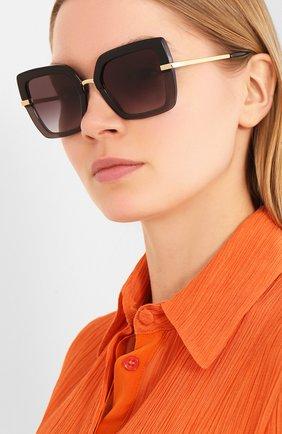Мужские солнцезащитные очки DOLCE & GABBANA черного цвета, арт. 4373-32468G | Фото 2