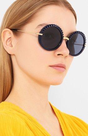 Мужские солнцезащитные очки DOLCE & GABBANA синего цвета, арт. 6130-309480 | Фото 2