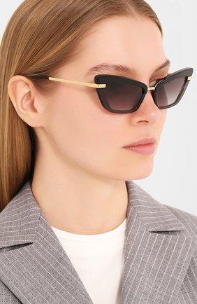 Мужские солнцезащитные очки DOLCE & GABBANA черного цвета, арт. 4378-32468G | Фото 2