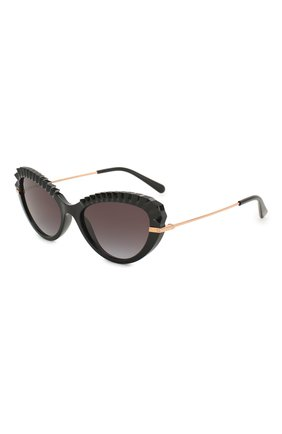 Мужские солнцезащитные очки DOLCE & GABBANA черного цвета, арт. 6133-501/8G | Фото 1