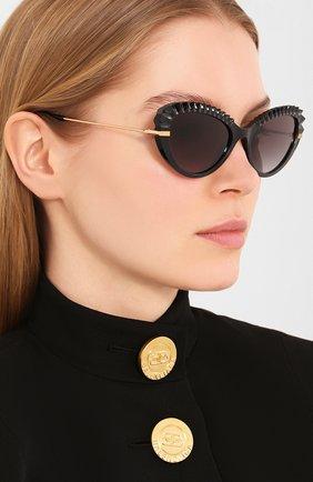 Мужские солнцезащитные очки DOLCE & GABBANA черного цвета, арт. 6133-501/8G | Фото 2