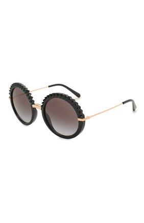 Мужские солнцезащитные очки DOLCE & GABBANA черного цвета, арт. 6130-501/8G | Фото 1