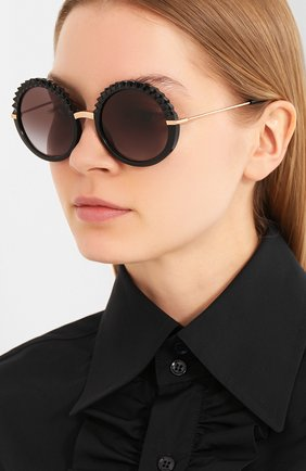 Мужские солнцезащитные очки DOLCE & GABBANA черного цвета, арт. 6130-501/8G | Фото 2