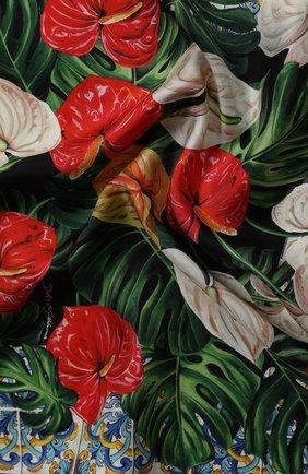 Женский шелковый платок DOLCE & GABBANA красного цвета, арт. FN093R/GDU71 | Фото 2