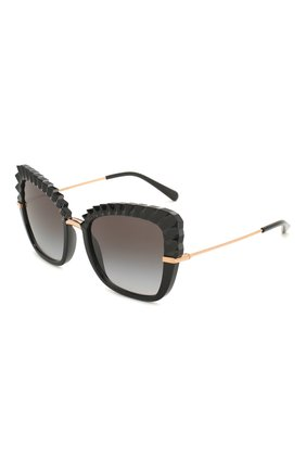Мужские солнцезащитные очки DOLCE & GABBANA черного цвета, арт. 6131-501/8G | Фото 1