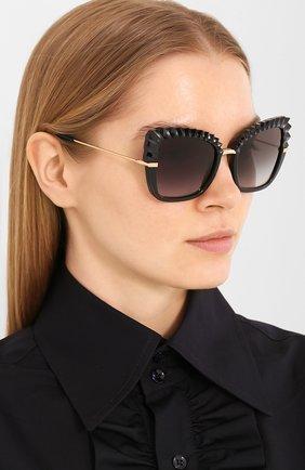 Мужские солнцезащитные очки DOLCE & GABBANA черного цвета, арт. 6131-501/8G | Фото 2