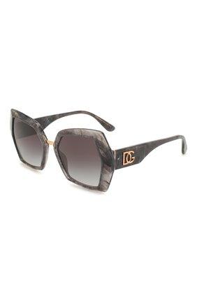 Мужские солнцезащитные очки DOLCE & GABBANA темно-серого цвета, арт. 4377-32518G | Фото 1