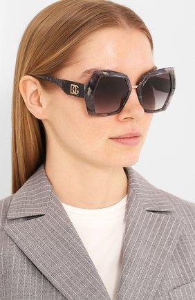 Мужские солнцезащитные очки DOLCE & GABBANA темно-серого цвета, арт. 4377-32518G | Фото 2