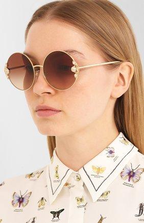 Мужские солнцезащитные очки DOLCE & GABBANA коричневого цвета, арт. 2252H-02/13 | Фото 2