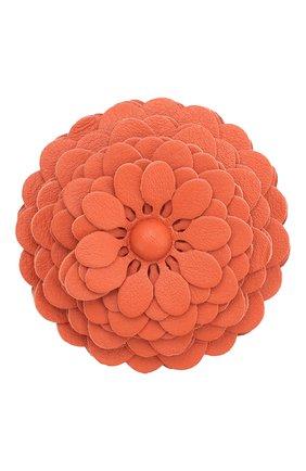Женские украшение для сумки stud flower LOEWE оранжевого цвета, арт. N691232X02   Фото 1