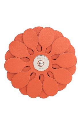 Женские украшение для сумки stud flower LOEWE оранжевого цвета, арт. N691232X02   Фото 2