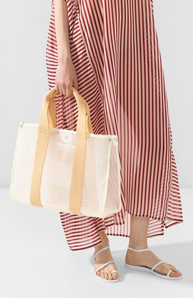 Женская сумка-шопер BONFANTI оранжевого цвета, арт. 315101/BEIGE WITH 0RANGE | Фото 2