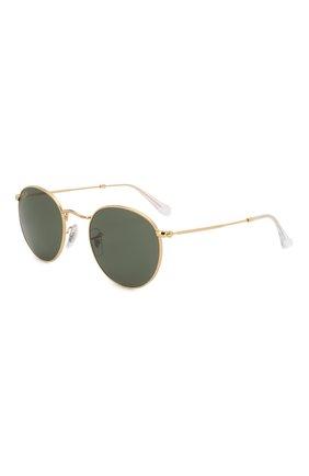 Женские солнцезащитные очки RAY-BAN золотого цвета, арт. 3447-919631 | Фото 1