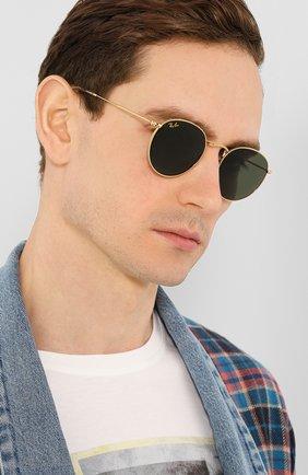 Женские солнцезащитные очки RAY-BAN золотого цвета, арт. 3447-919631 | Фото 3