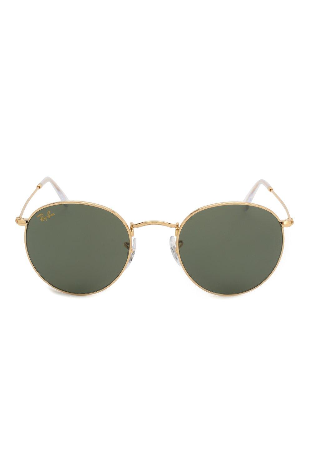 Женские солнцезащитные очки RAY-BAN золотого цвета, арт. 3447-919631 | Фото 4