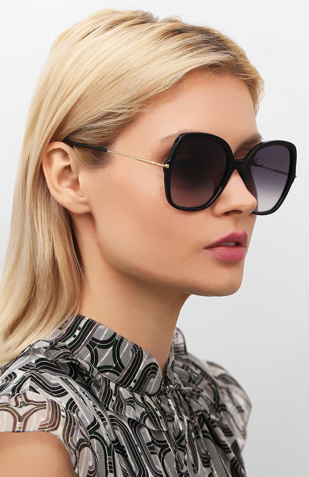 Женские солнцезащитные очки MAX MARA черного цвета, арт. CLASSYVIII/G 807 | Фото 2