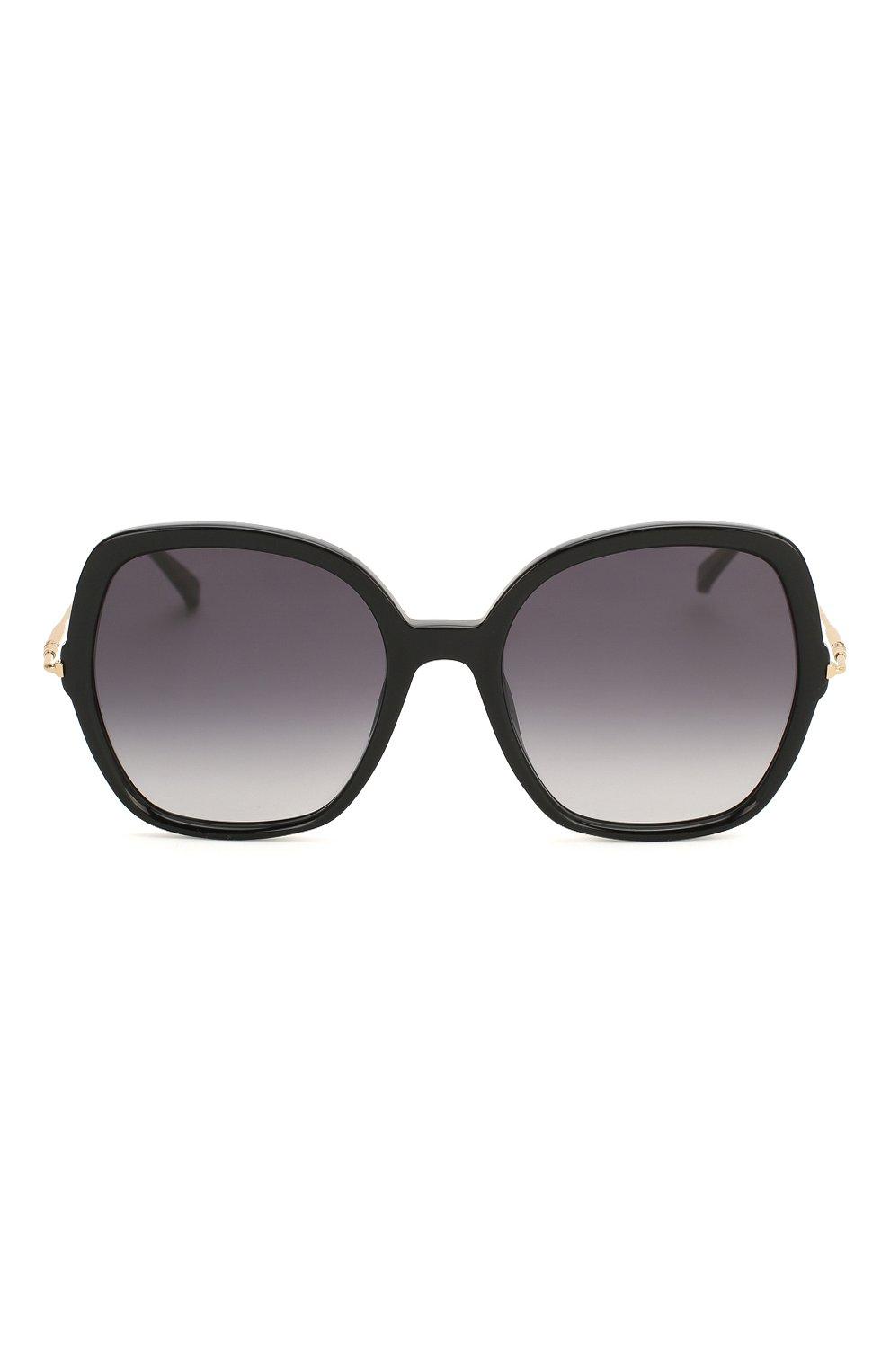 Женские солнцезащитные очки MAX MARA черного цвета, арт. CLASSYVIII/G 807 | Фото 3