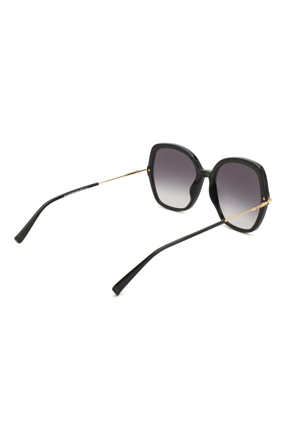 Женские солнцезащитные очки MAX MARA черного цвета, арт. CLASSYVIII/G 807 | Фото 4