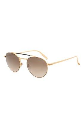 Женские солнцезащитные очки ERMENEGILDO ZEGNA золотого цвета, арт. EZ0140 30G   Фото 1