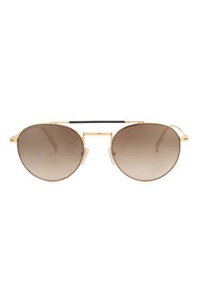Женские солнцезащитные очки ERMENEGILDO ZEGNA золотого цвета, арт. EZ0140 30G   Фото 2