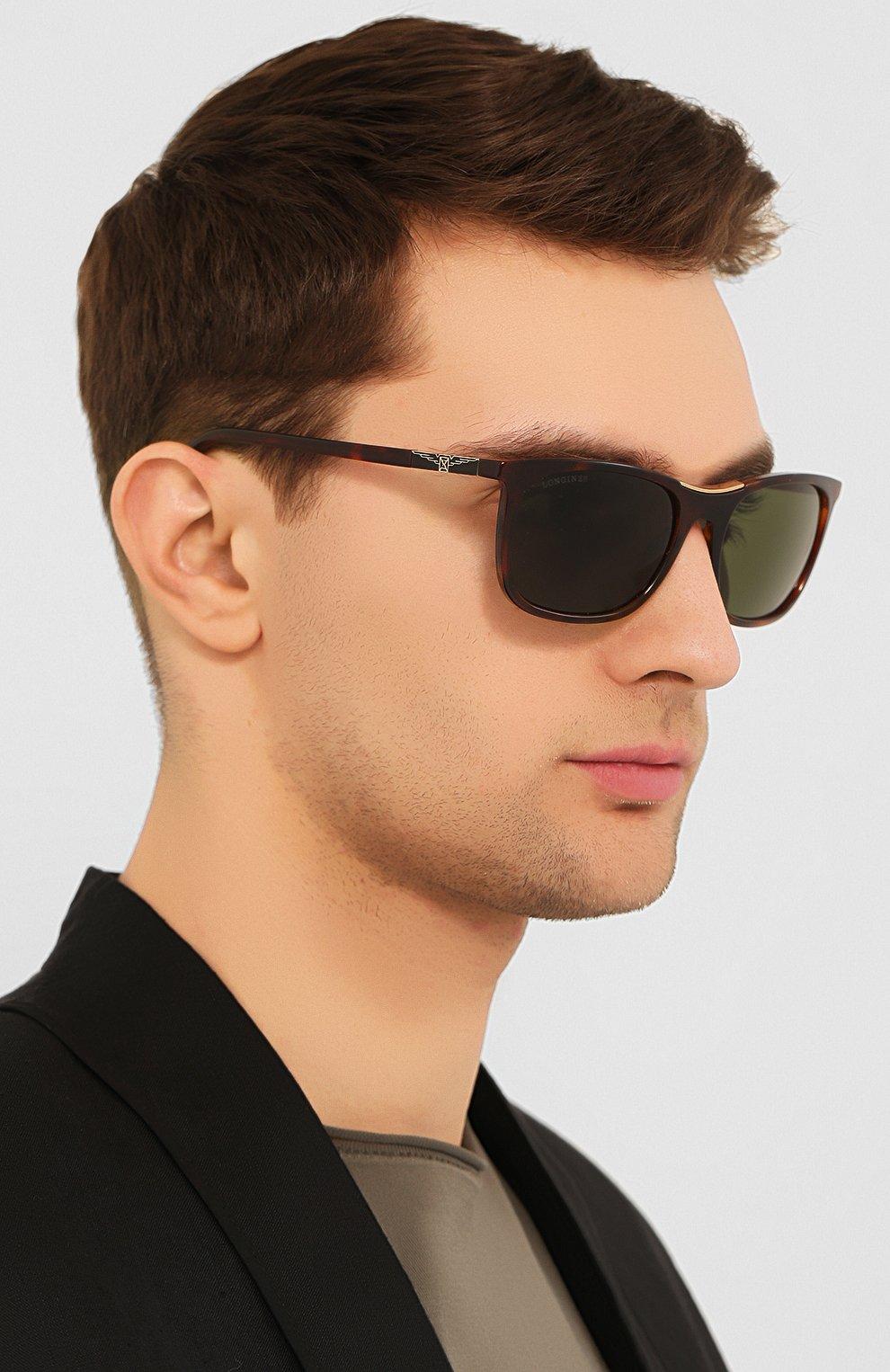 Мужские солнцезащитные очки LONGINES коричневого цвета, арт. LG0002-H 52N | Фото 2