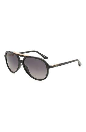 Мужские солнцезащитные очки LONGINES черного цвета, арт. LG0003-H 01B | Фото 1