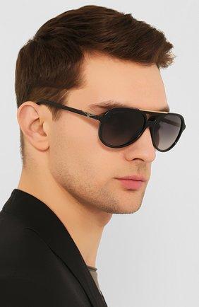 Мужские солнцезащитные очки LONGINES черного цвета, арт. LG0003-H 01B | Фото 2