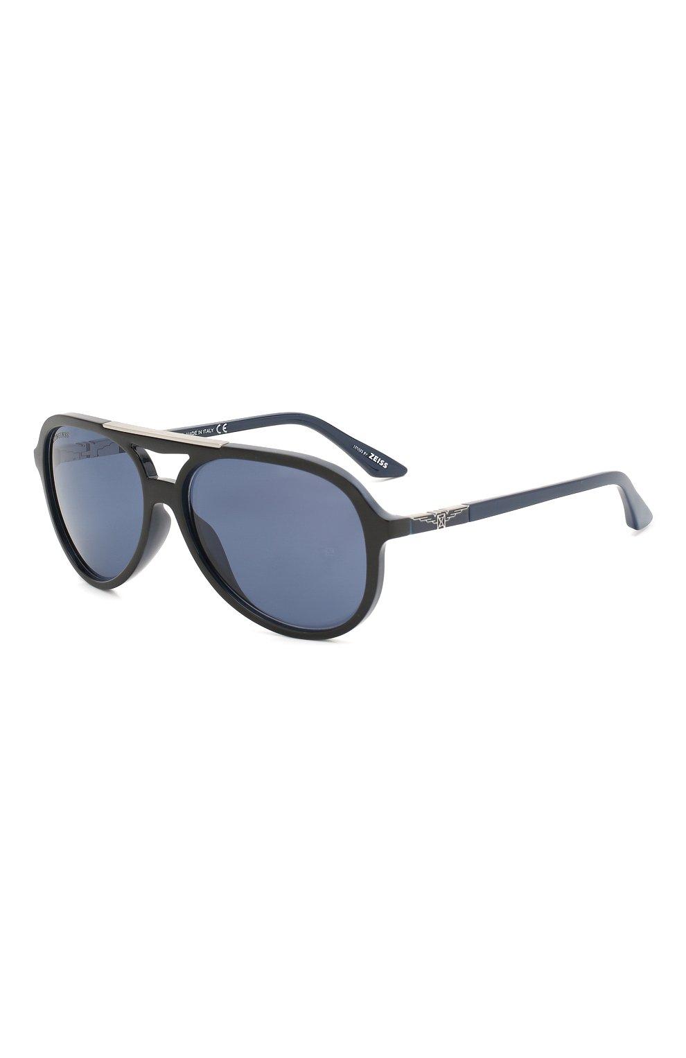 Мужские солнцезащитные очки LONGINES синего цвета, арт. LG0003-H 05V | Фото 1