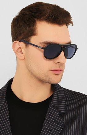 Мужские солнцезащитные очки LONGINES синего цвета, арт. LG0003-H 05V | Фото 2