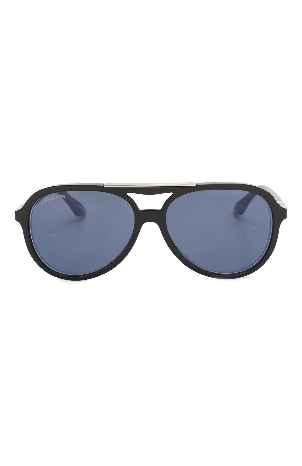 Мужские солнцезащитные очки LONGINES синего цвета, арт. LG0003-H 05V | Фото 3