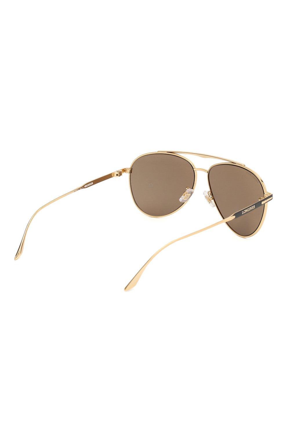 Мужские солнцезащитные очки LONGINES черного цвета, арт. LG0005-H 02L | Фото 4 (Тип очков: С/з; Очки форма: Авиаторы; Оптика Гендер: оптика-мужское)