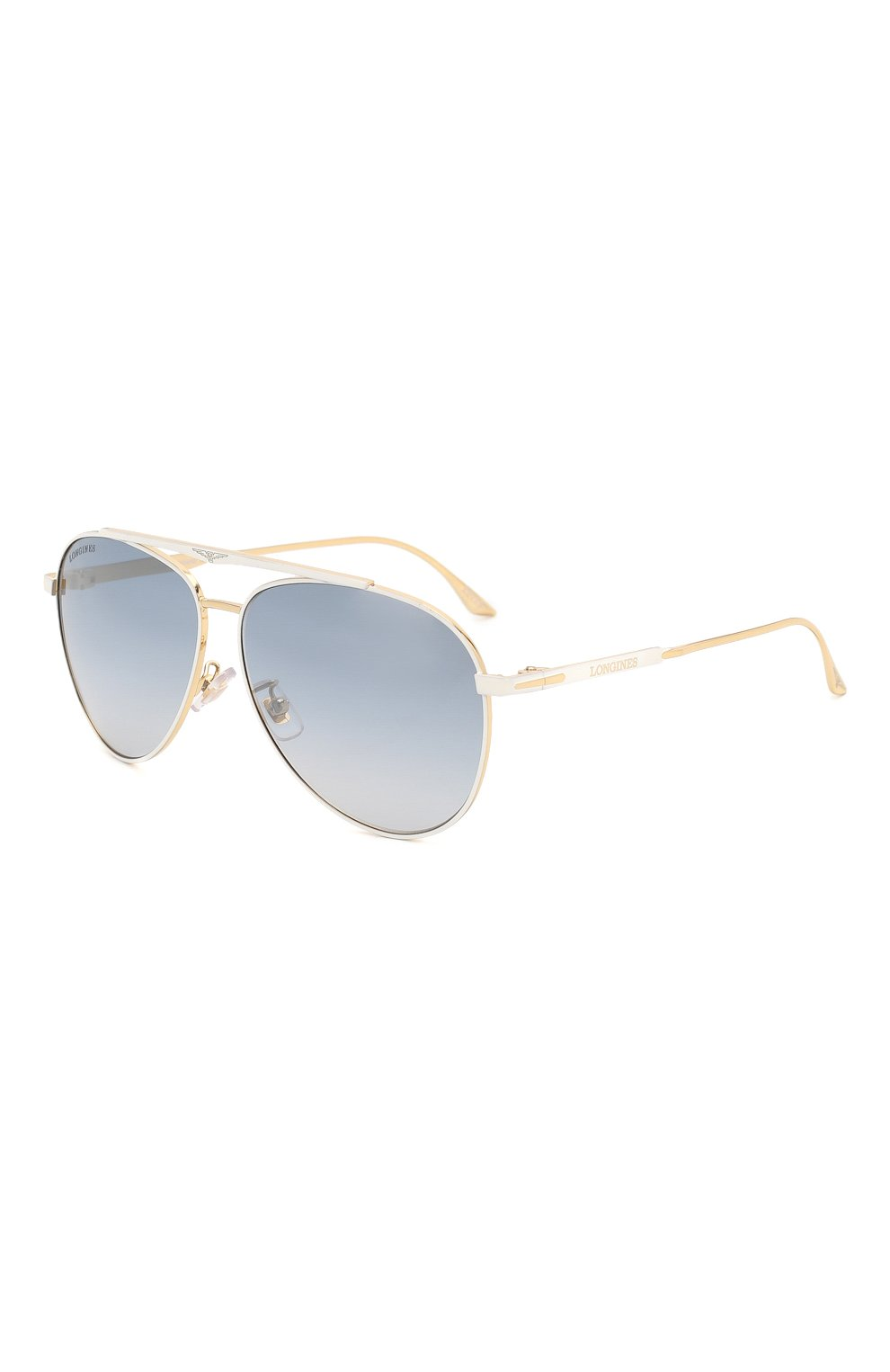 Мужские солнцезащитные очки LONGINES белого цвета, арт. LG0005-H 30X   Фото 1