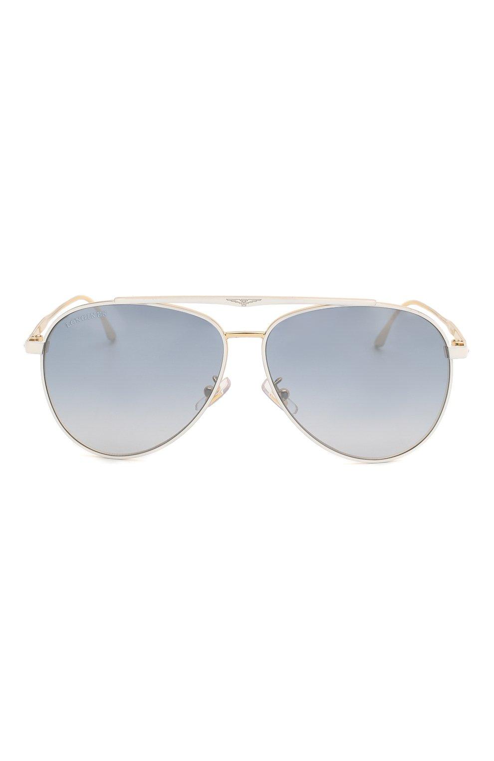 Мужские солнцезащитные очки LONGINES белого цвета, арт. LG0005-H 30X   Фото 2