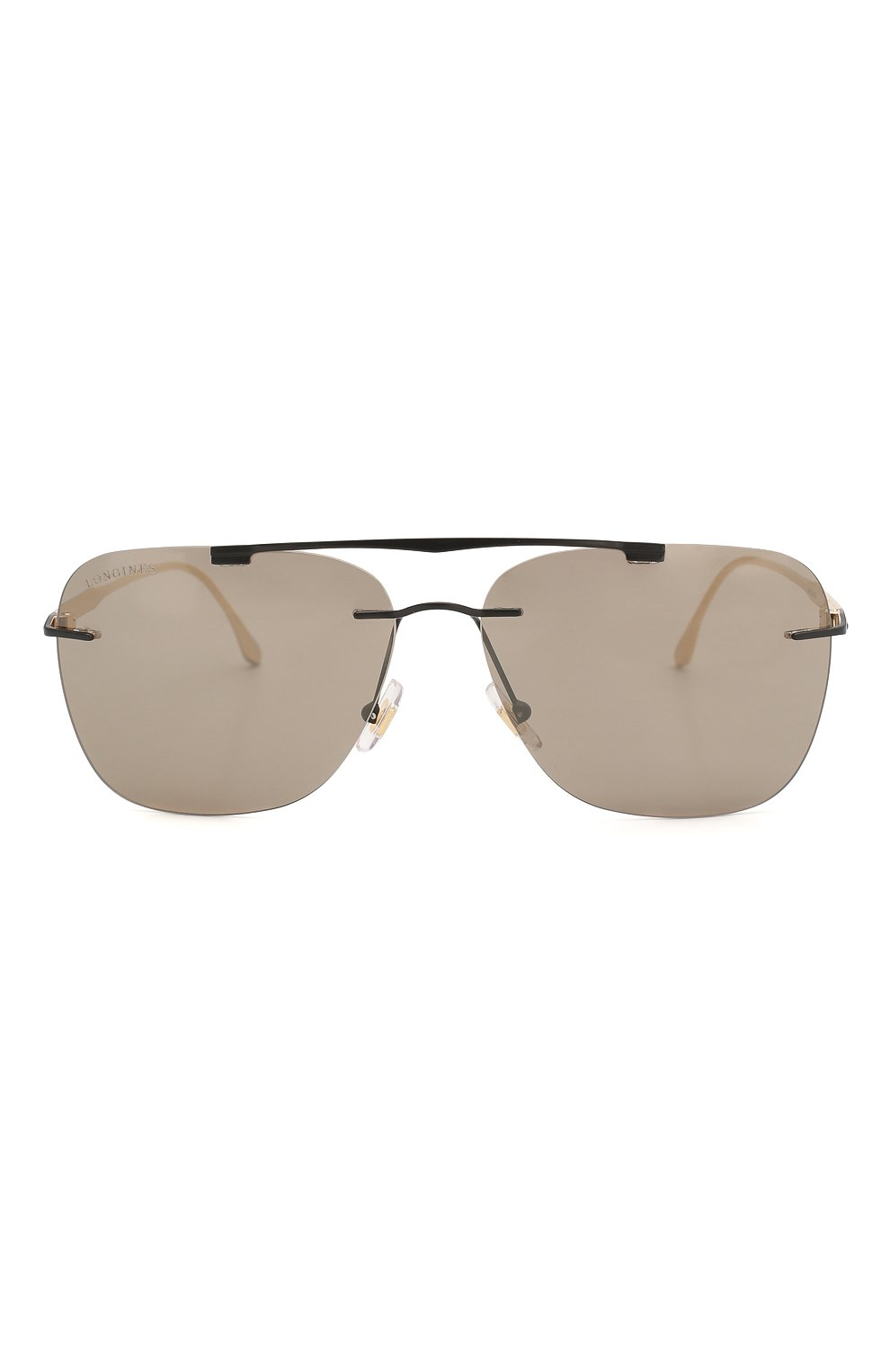 Мужские солнцезащитные очки LONGINES черного цвета, арт. LG0009-H 02L   Фото 3 (Тип очков: С/з; Очки форма: Прямоугольные; Оптика Гендер: оптика-мужское)