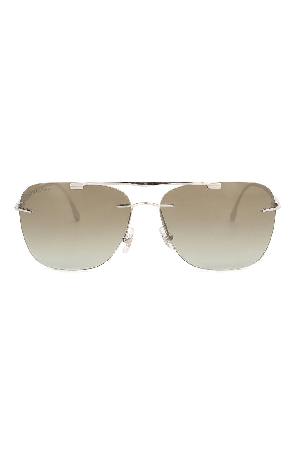 Мужские солнцезащитные очки LONGINES серебряного цвета, арт. LG0009-H 16P | Фото 2 (Тип очков: С/з; Очки форма: Прямоугольные; Оптика Гендер: оптика-мужское)