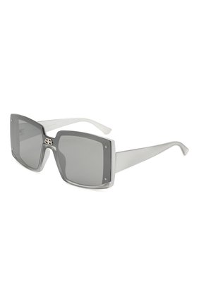 Мужские солнцезащитные очки BALENCIAGA серого цвета, арт. BB0081S 002 | Фото 1