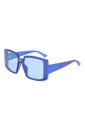 Женские солнцезащитные очки BALENCIAGA синего цвета, арт. BB0081S 003 | Фото 1