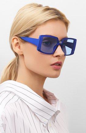 Женские солнцезащитные очки BALENCIAGA синего цвета, арт. BB0081S 003 | Фото 2