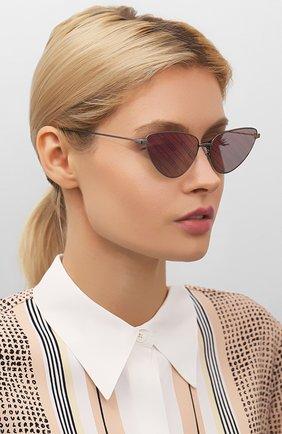 Мужские солнцезащитные очки BALENCIAGA фиолетового цвета, арт. BB0086S 006 | Фото 2