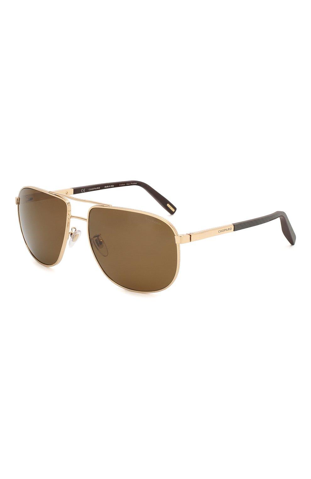 Мужские солнцезащитные очки CHOPARD коричневого цвета, арт. C92S 300P | Фото 1