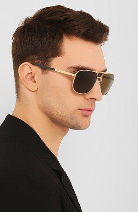 Мужские солнцезащитные очки CHOPARD коричневого цвета, арт. C92S 300P | Фото 2