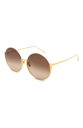 Женские солнцезащитные очки LINDA FARROW золотого цвета, арт. LFL1006C1 SUN | Фото 1