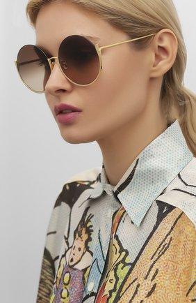 Женские солнцезащитные очки LINDA FARROW золотого цвета, арт. LFL1006C1 SUN | Фото 2