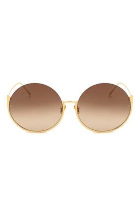 Женские солнцезащитные очки LINDA FARROW золотого цвета, арт. LFL1006C1 SUN | Фото 3