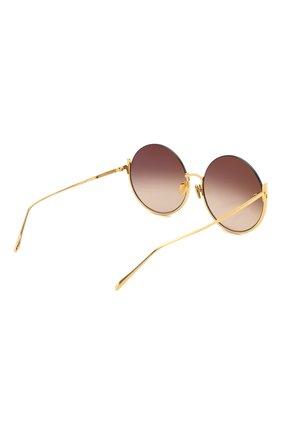 Женские солнцезащитные очки LINDA FARROW золотого цвета, арт. LFL1006C1 SUN | Фото 4